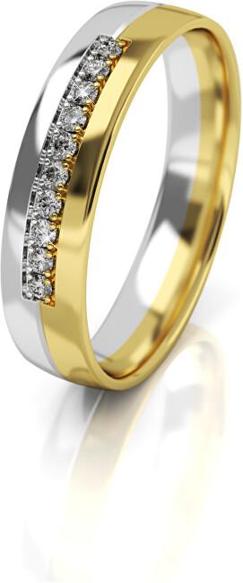 Art Diamond Dámský bicolor snubní prsten ze zlata AUG318 52 mm