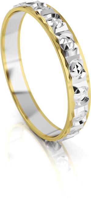 Art Diamond Pánský bicolor snubní prsten ze zlata AUG303 60 mm