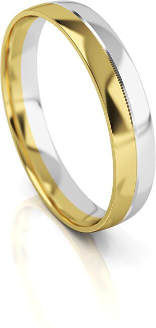 Art Diamond Pánský bicolor snubní prsten ze zlata AUG318 64 mm