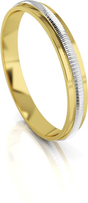 Art Diamond Pánský bicolor snubní prsten ze zlata AUG328 66 mm