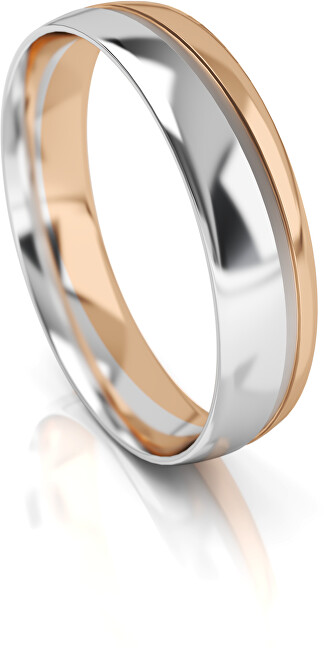 Art Diamond Pánský bicolor snubní prsten ze zlata AUGDR002 64 mm