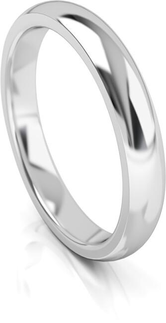 Art Diamond Pánský snubní prsten z bílého zlata AUG314B 64 mm