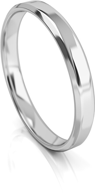Art Diamond Pánský snubní prsten z bílého zlata AUGDR001 64 mm