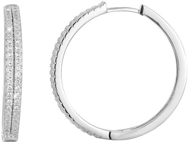 Beneto Kruhové stříbrné náušnice AGU1153