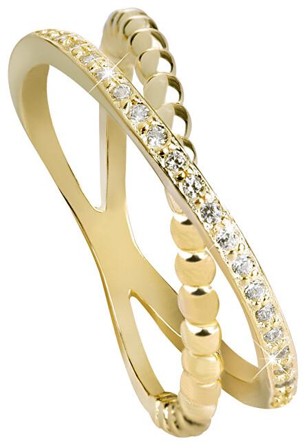 Beneto Pozlacený dvojitý prsten ze stříbra AGG196 50 mm