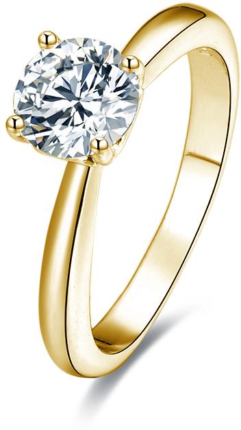 Beneto Pozlacený stříbrný prsten s krystaly AGG202 52 mm