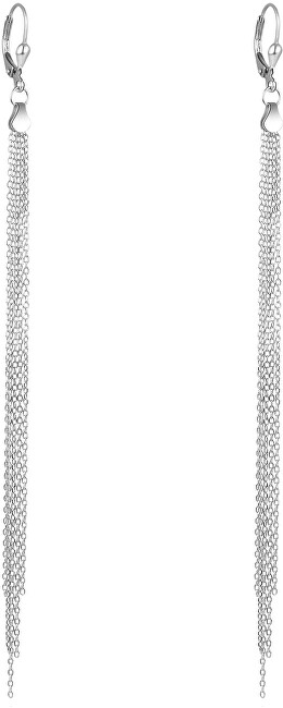 Beneto Stříbrné řetízkové náušnice AGUP1840