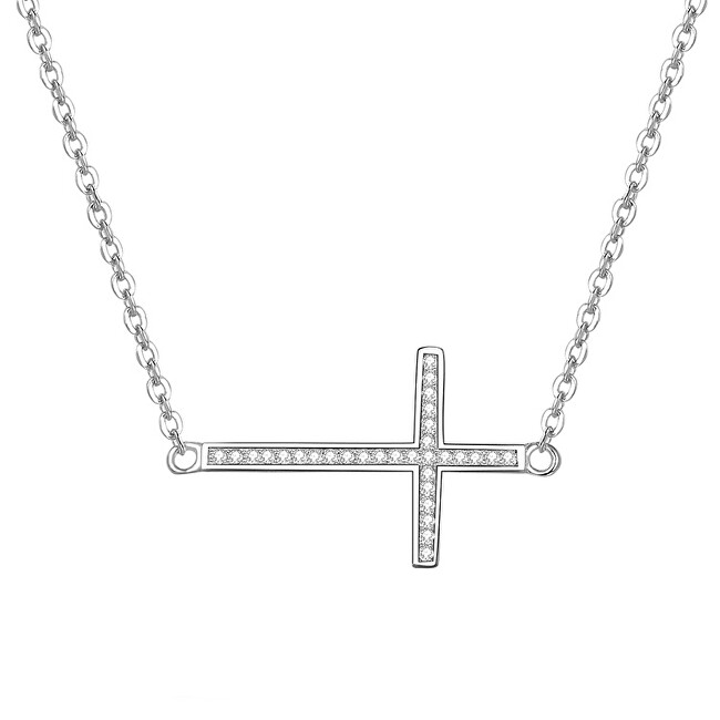 Beneto Strieborný náhrdelník s krížikom AGS196 / 47
