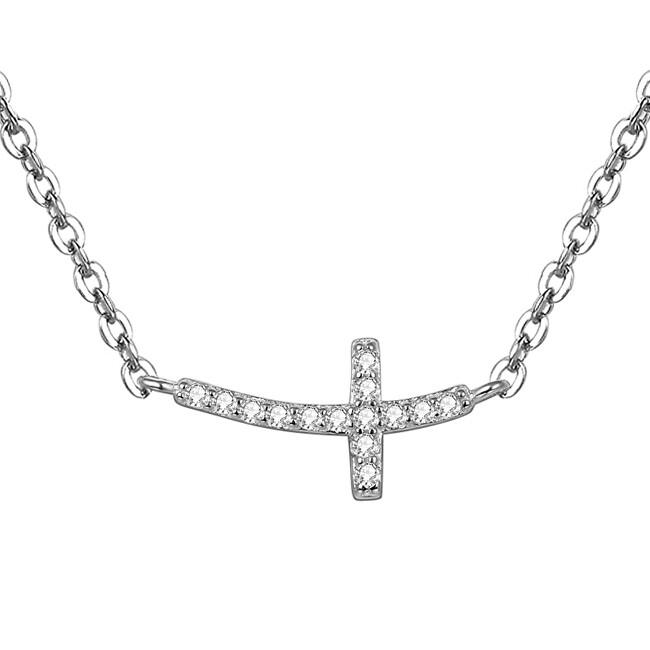 Beneto Strieborný náhrdelník s krížikom AGS546 / 47