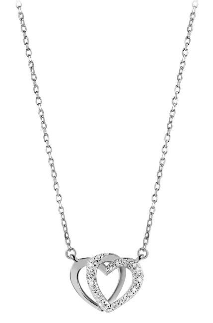 Beneto Stříbrný náhrdelník se srdíčkem AGS779/48 (řetízek, přívěsek) Beneto