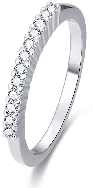 Beneto Stříbrný prsten s krystaly AGG187 50 mm