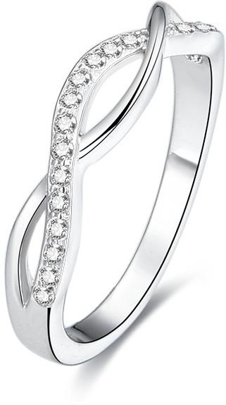 Beneto Stříbrný prsten s krystaly AGG190 52 mm