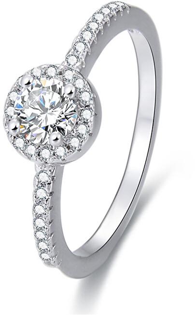 Beneto Stříbrný prsten s krystaly AGG194 50 mm