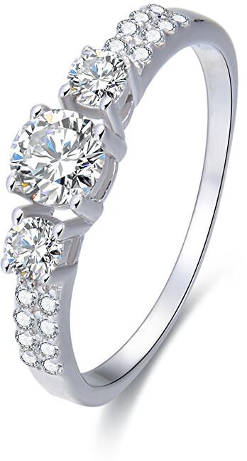 Beneto Stříbrný prsten s krystaly AGG197 58 mm