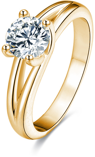 Beneto Stříbrný prsten s krystaly AGG199 50 mm