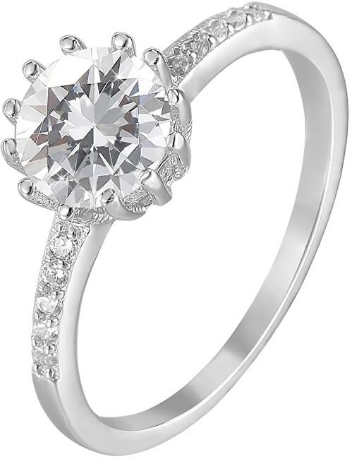 Beneto Stříbrný prsten s krystaly AGG206 54 mm
