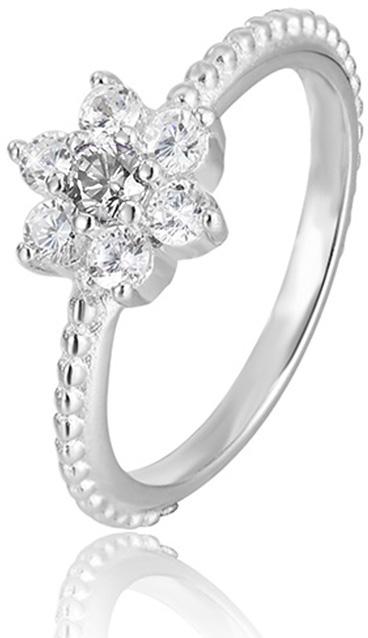 Beneto Stříbrný prsten s kytičkou AGG211 56 mm