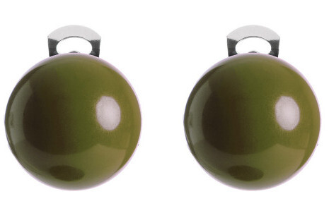 #ballsmania Originálne náušnice O154 18-0316 Verde Oliva