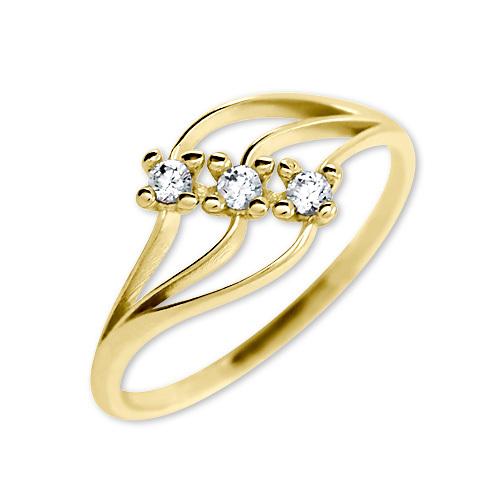 Brilio Femeile cu cristale inel 229 001 00 546 - 1,35 g 52 mm