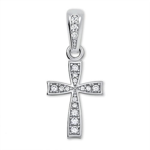 78e5d7a42 Brilio Jemný prívesok krížik z bieleho zlata 249 001 00570 07 - 0,65 g