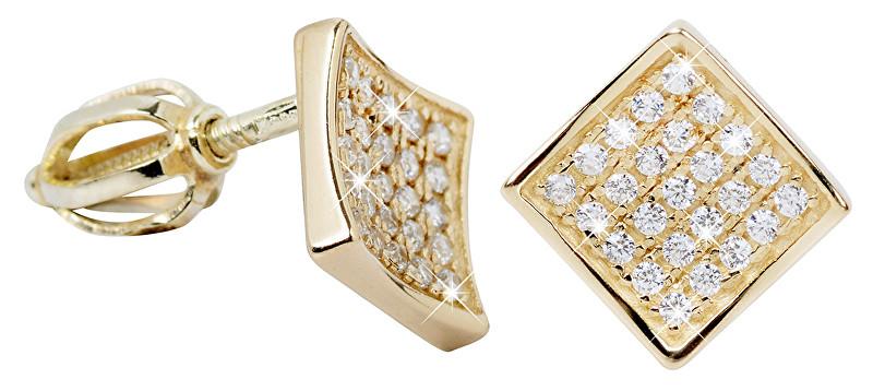 Brilio Náušnice zo žltého zlata s kryštálmi 239 001 00574
