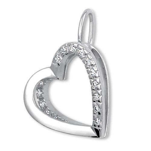 Brilio Něžný přívěsek Srdce s krystaly 249 001 00493 07 - 1,10 g