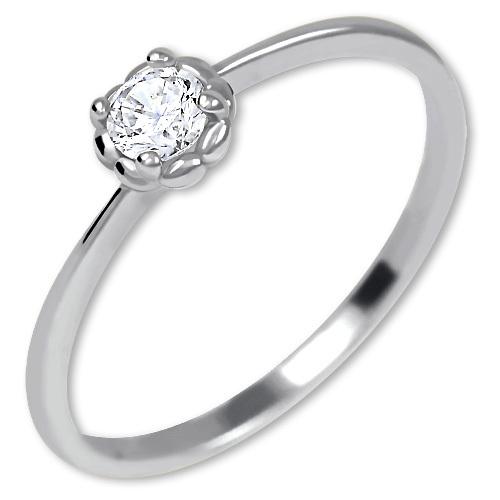 Brilio Něžný zásnubní prsten ze zlata 226 001 01034 07 49 mm