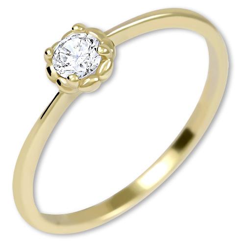Brilio Něžný zásnubní prsten ze zlata 226 001 01034 50 mm
