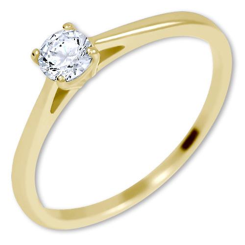 Brilio Něžný zásnubní prsten ze zlata 226 001 01035 50 mm