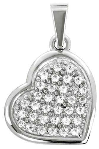Brilio Přívěsek z bílého zlata Srdce s krystaly 249 001 00475 07 - 1,00 g