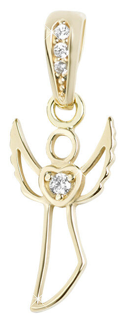 Brilio Půvabný zlatý přívěsek Anděl 249 001 00569