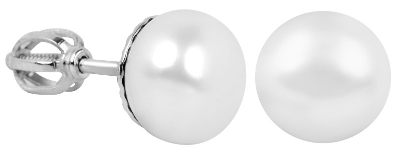 Brilio Zlaté dámské náušnice s perlou 235 001 00073 07 - 2,70 g