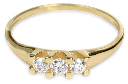 Brilio Inel de aur lady cu cristale 229 001 00 707 - 1,35 g 54 mm