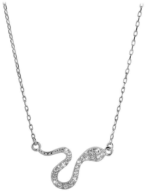 Brilio Zlatý náhrdelník Had s krystaly 279 001 00080 07 - 2,80 g