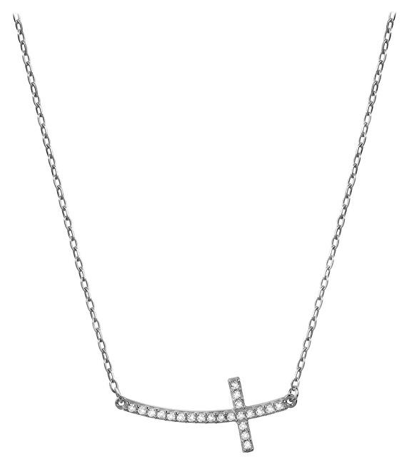 Brilio Zlatý náhrdelník Křížek naležato s krystaly 279 001 00079 07 - 2,00 g