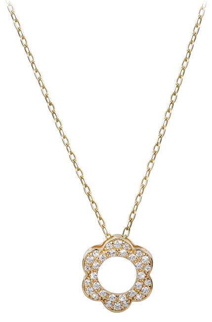 Brilio Zlatý náhrdelník Kytička s krystaly 279 001 00086 - 2,30 g