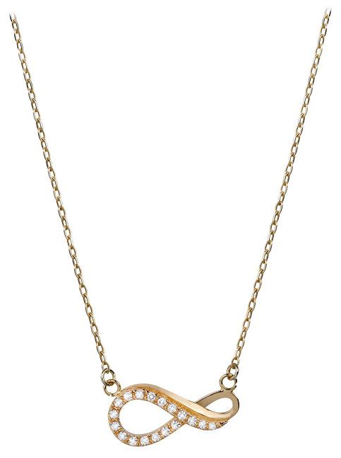 Brilio Zlatý náhrdelník Nekonečno s krystaly 279 001 00087 - 2,30 g