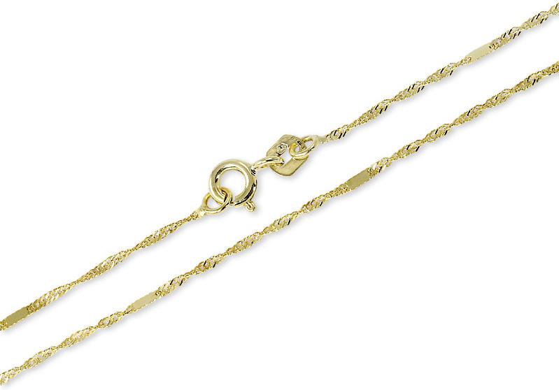 Brilio Zlatý náramek Lambáda s destičkami 19 cm 261 115 00234 - 0,75 g