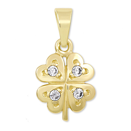 2052840e4 Brilio Zlatý prívesok štvorlístok s kryštálmi 249 001 00371 - 0,70 g