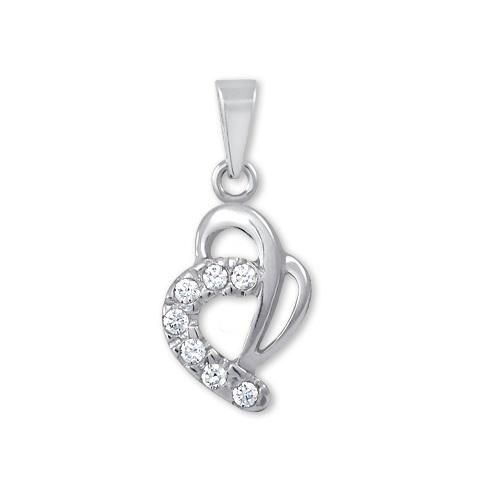 Brilio Zlatý přívěsek srdce s krystaly 249 001 00359 07 - 0,55 g
