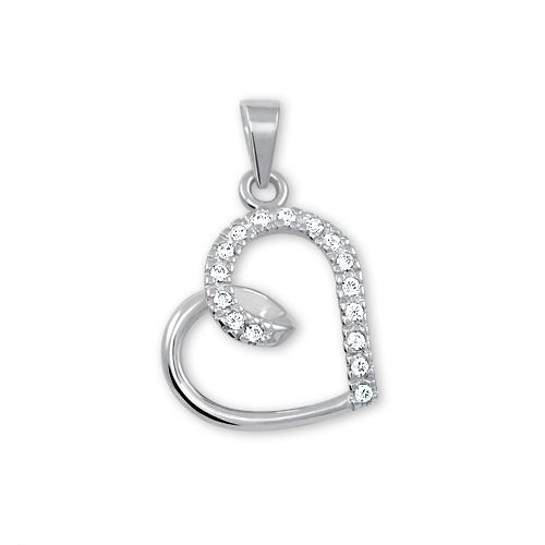Brilio Zlatý přívěsek srdce s krystaly 249 001 00451 07 - 0,90 g