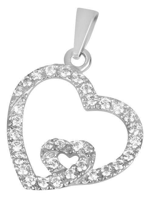Brilio Zlatý přívěsek srdce s krystaly 249 001 00468 07 - 0,95 g