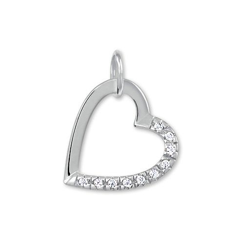Brilio Zlatý přívěsek srdce s krystaly 249 001 00494 07 - 0,50 g
