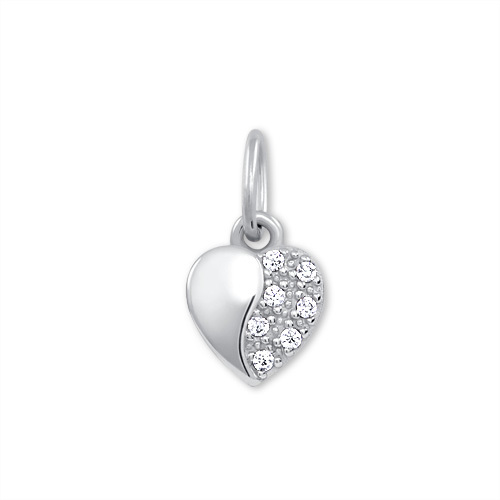 Brilio Zlatý přívěsek Srdce s krystaly 249 001 00537 07 - 0,35 g