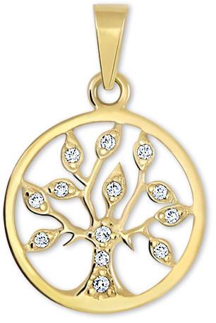 Brilio Zlatý přívěsek Strom života s krystaly 249 001 00442 - 1,00 g