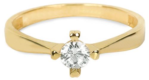 Brilio Zlatý zásnubní prsten 226 001 01016 - 1,95 g 55 mm