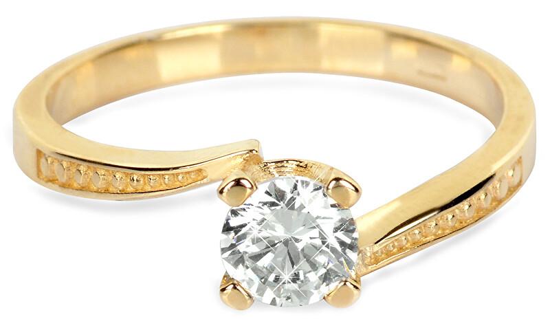 Brilio Zlatý zásnubní prsten s krystalem 226 001 01023 - 2,10 g 54 mm