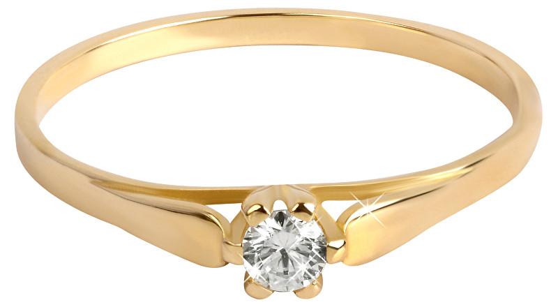 Brilio Zlatý zásnubní prsten se zirkonem 226 001 00992 54 mm 36525fd7563