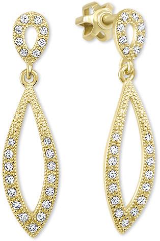 Brilio Dámské zlaté náušnice s čirými krystaly 239 001 00876 - 2,45 g