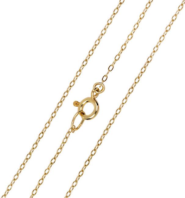 Brilio Elegantní zlatý řetízek Anker 50 cm 271 115 00274 - 1,45 g